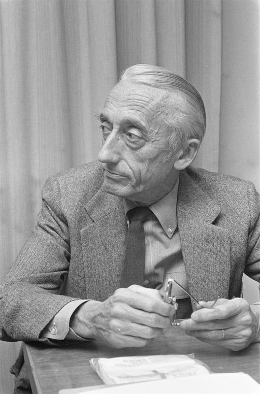 Portrait de Jean-Yves Cousteau à 62 ans