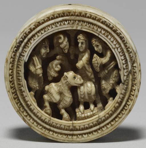 Jeton en ivoire médiéval
