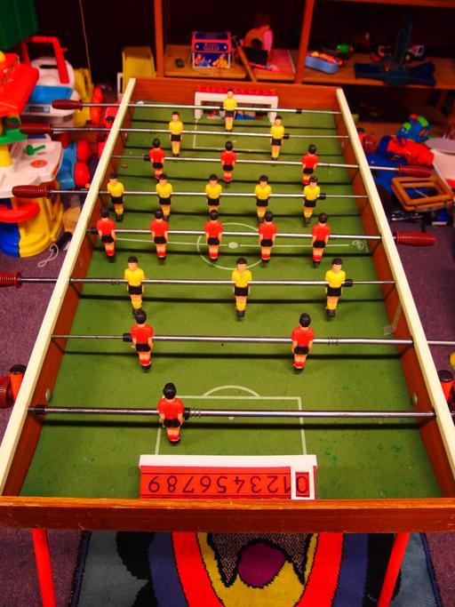 Jeu de baby-foot à Maastricht