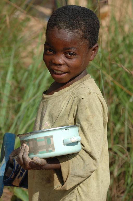 Jeune mineur au Congo