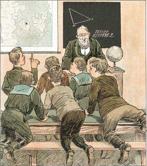 Jeunes écoliers en 1890