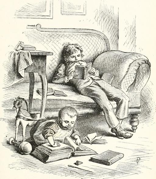 Jeunes lecteurs en 1889