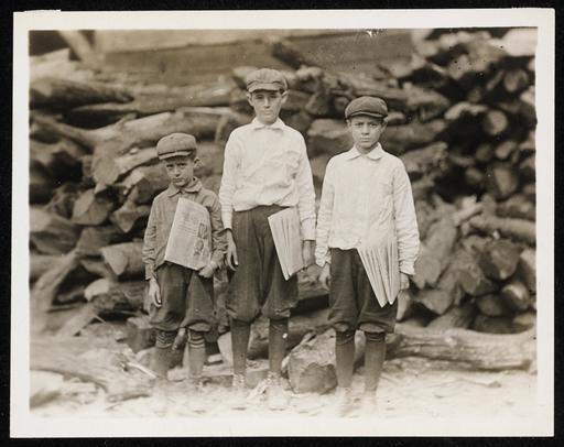 Jeunes vendeurs de journaux en Floride en 1913