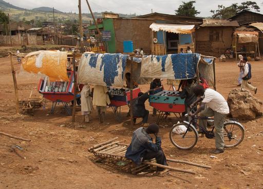Jeux de baby-foot en Éthiopie