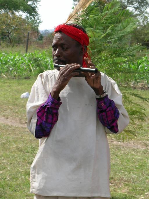 Joueur de flûte au Kenya