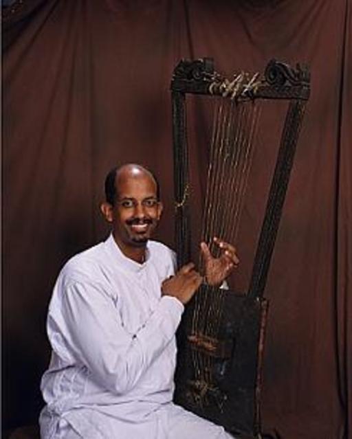 Joueur éthiopien de begena