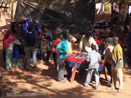 Joueurs de Baby-foot au Mali
