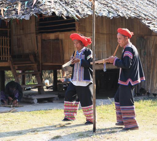 Joueurs de flûte en Thaïlande