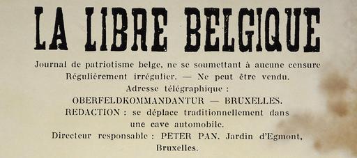 Journal clandestin belge en 1942