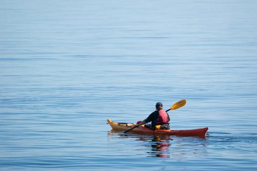 Kayak de mer sur le Saint-Laurent