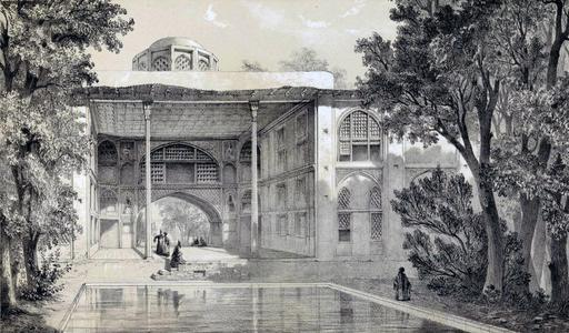 Kiosque de Hecht-Beïcht à Isfahan en 1840