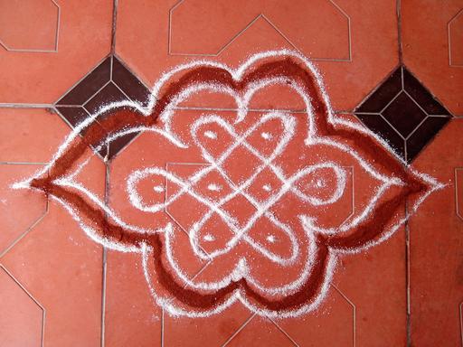 Kolam de fleur