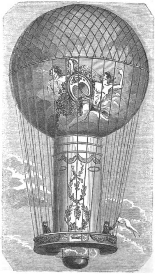L'aéro-montgolfière de Pilâtre de Rozier en 1785