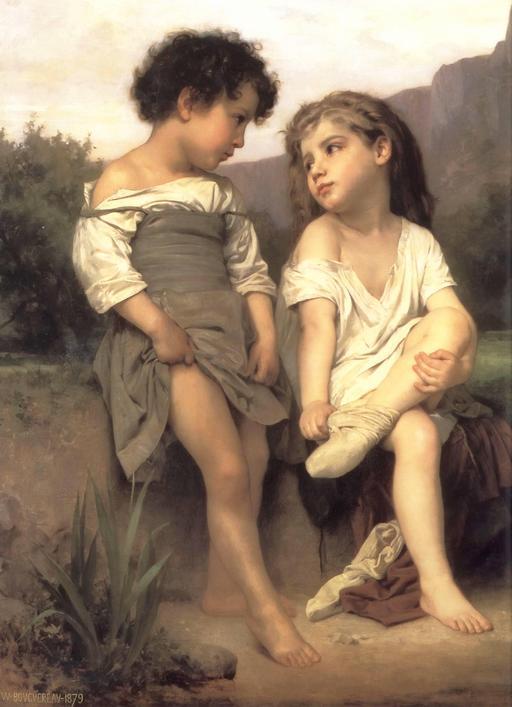 L'amitié entre deux enfants