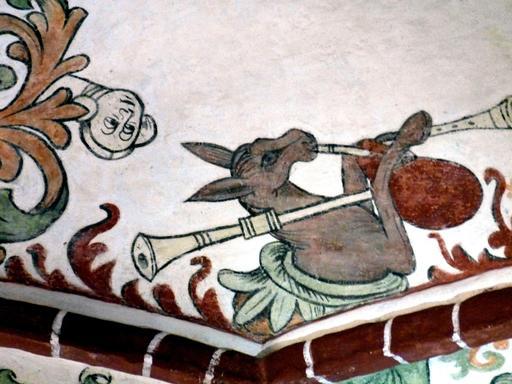 L'âne jouant de la cornemuse