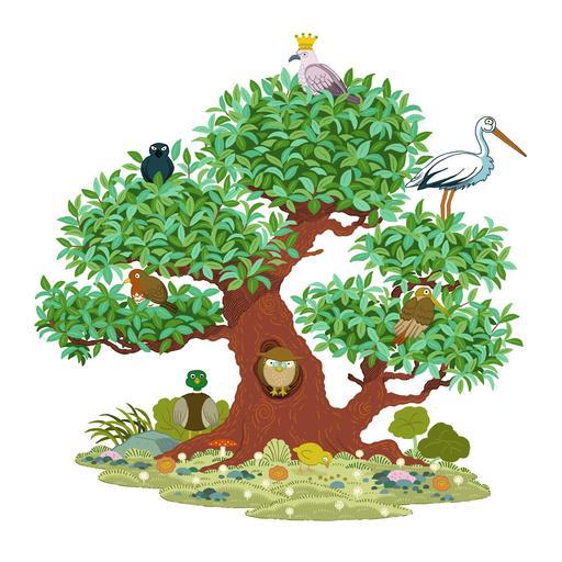 L'arbre aux huit oiseaux