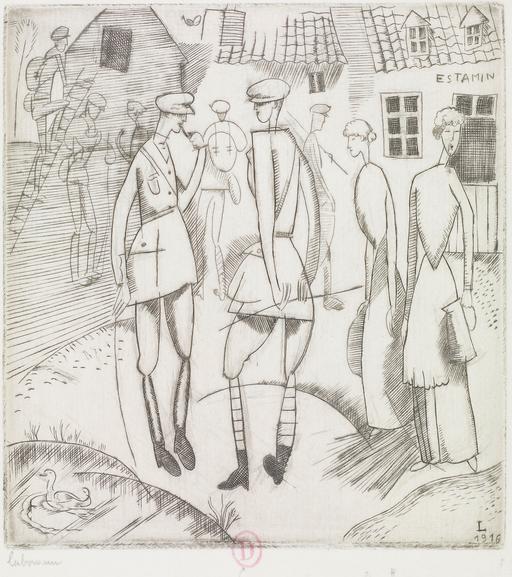 L'arrivée au cantonnement en 1916