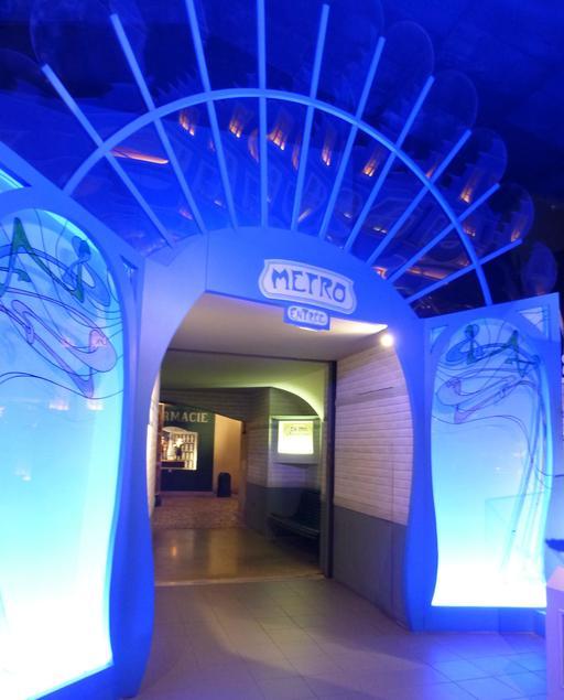 L'entrée du métro parisien au musée des automates