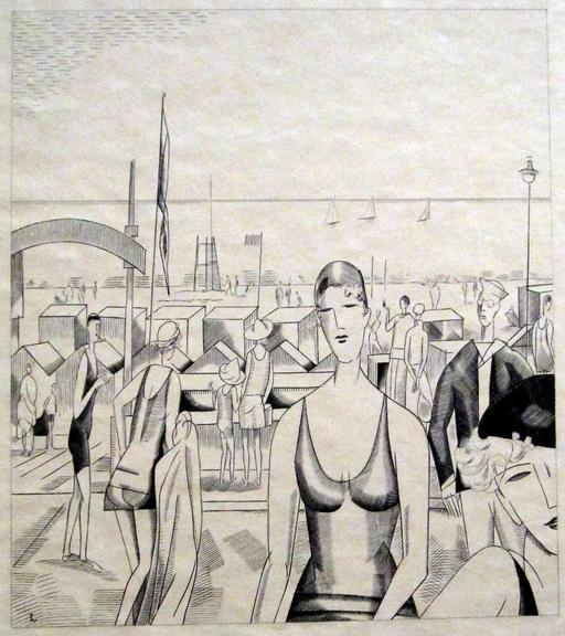 L'heure du bain dans les années 30