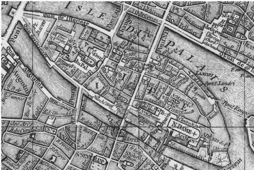 L'île de la Cité en 1771