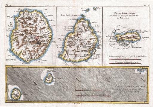 L'île de La Réunion en 1780
