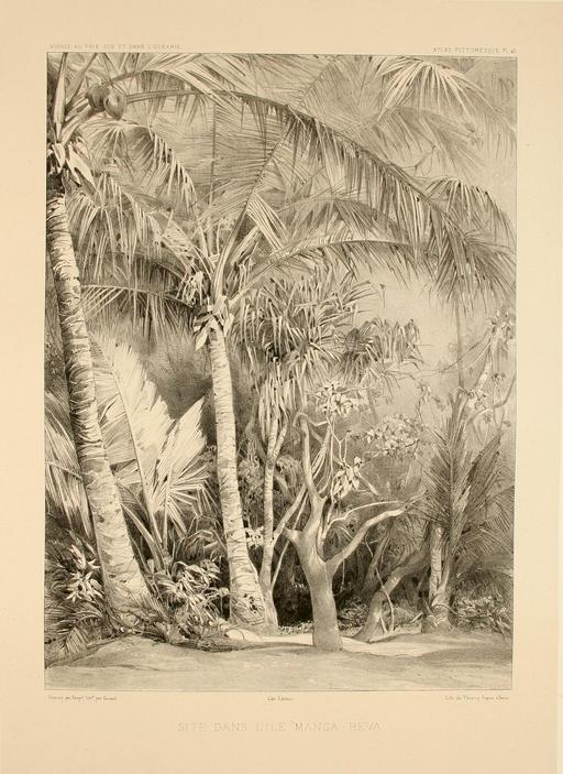 L'île de Manga-Reva en Polynésie en 1838