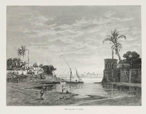L'Île de Roda en 1878