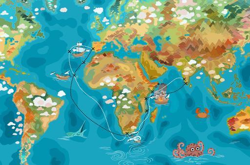 L'itinéraire de Vasco de Gama