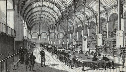 La Bibliothèque Sainte-Geneviève en 1859
