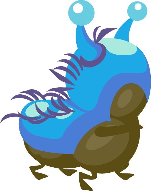 La chenille bleue