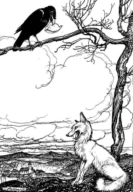 La corneille et le renard