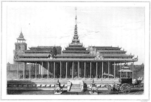 La cour impériale d'Amarapura en Birmanie