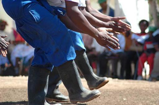 La danse des bottes en Afrique du Sud