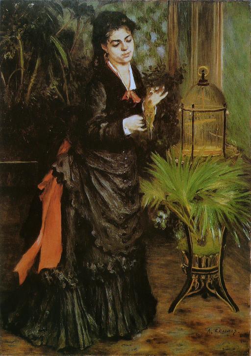 La Femme à la perruche de Renoir