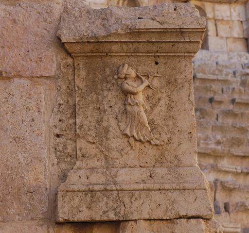 La flûtiste du Théâtre Nord de Jerash