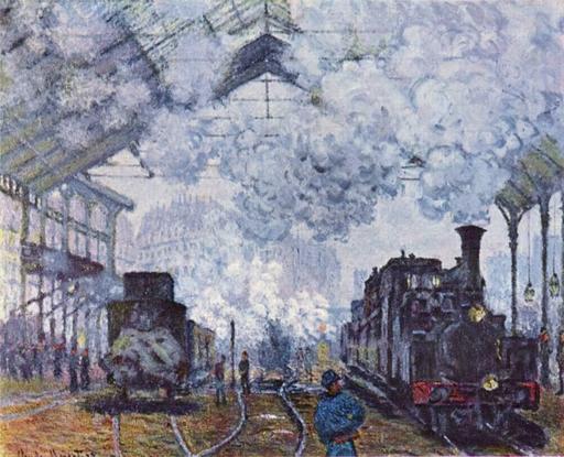 La gare Saint-Lazare en 1877