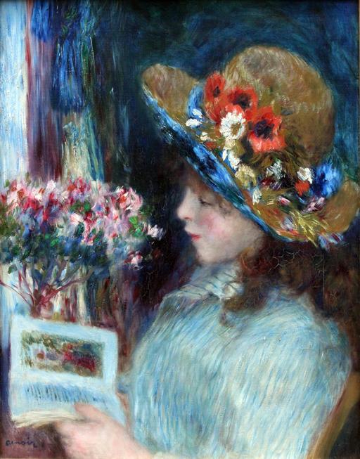 La jeune fille lisant
