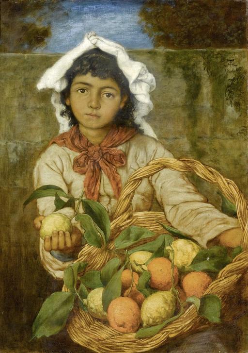 La jeune marchande de citrons en 1880