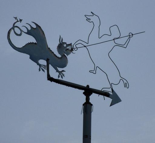 La légende de Saint Georges en girouette