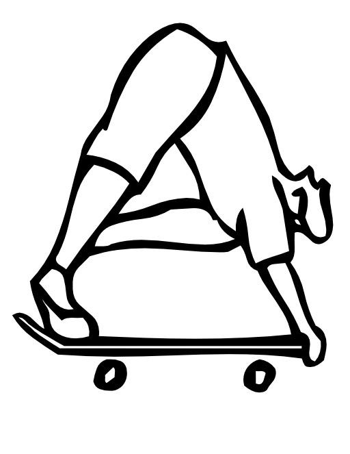 La lettre A du skateur