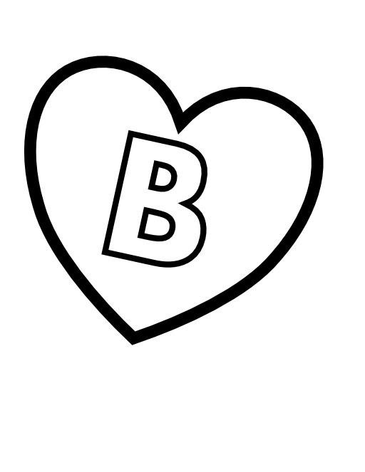 La lettre B dans un coeur