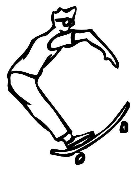 La lettre C du skateur