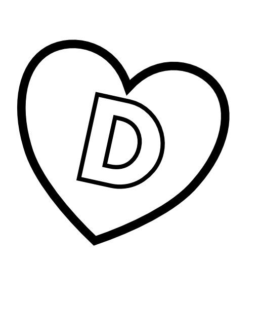La lettre D dans un coeur