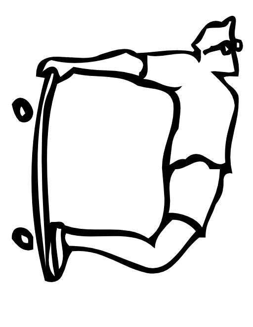 La lettre D du skateur