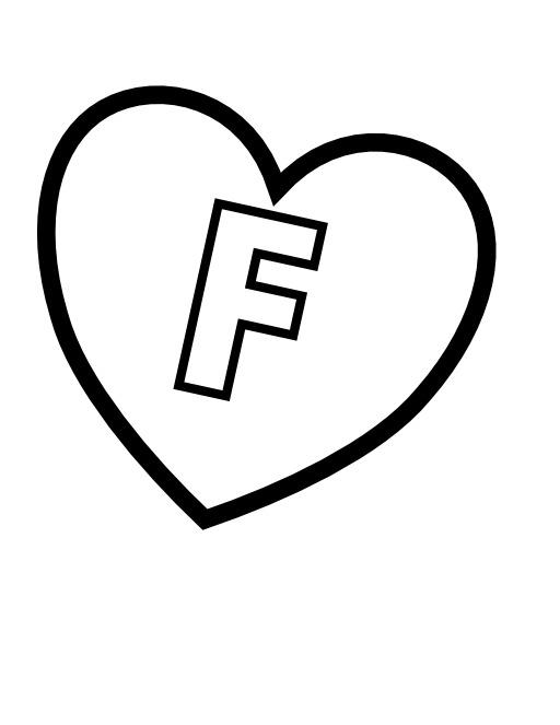 La lettre F dans un coeur