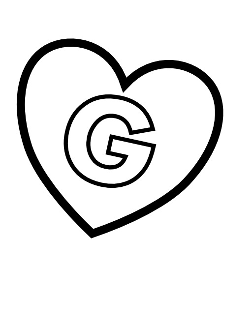 La lettre G dans un coeur