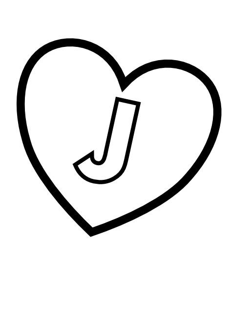 La lettre J dans un coeur