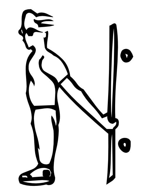 La lettre N du skateur