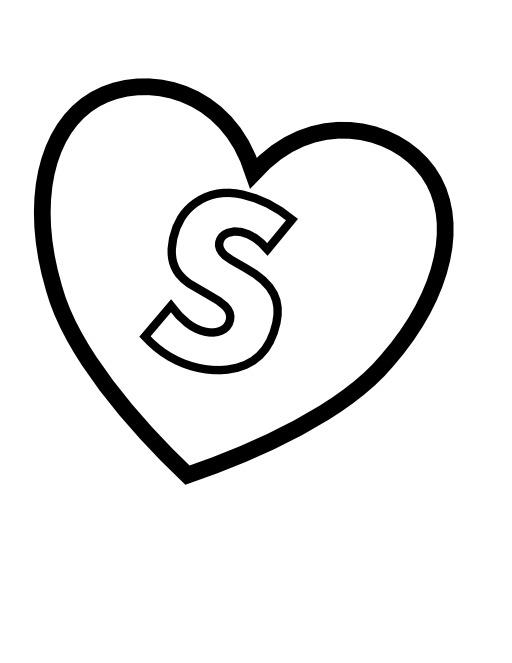 La lettre S dans un coeur