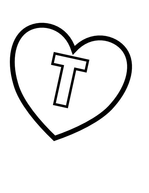 La lettre T dans un coeur